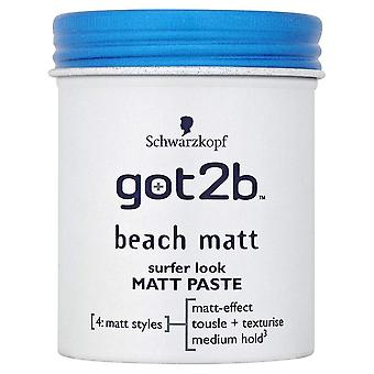 Schwarzkopf 2 X Schwarzkopf Got2b Beach Matt Surfer Look Matt Paste