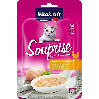 Vitakraft Chicken Soup Snack (Cats , Treats , Chewy & Softer Treats )