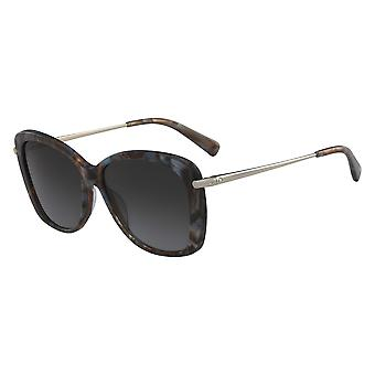 Longchamp LO616S 004 Marble Brown Azure/Grey Gradient Sunglasses