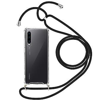 Braided Nylon Lanyard Phone Case for Huawei P30 - Forcell, Black