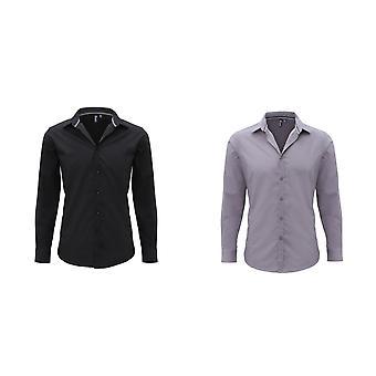 Premier Mens Long hylsan försedd fredag skjorta