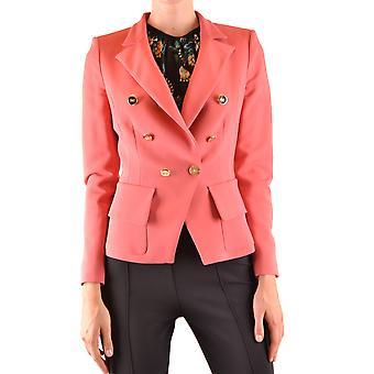 Elisabetta Franchi Ezbc050212 Kvinder's Pink Viskose Blazer