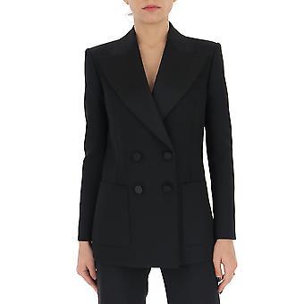 Saint Laurent 618771y512w1000 Women's Black Cotton Blazer