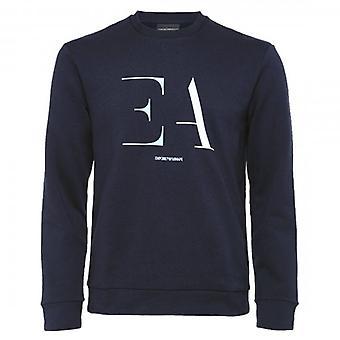 エンポリオ アルマーニ クルー ネック ロゴ スウェットシャツ ネイビー 3H1M95 1J07Z