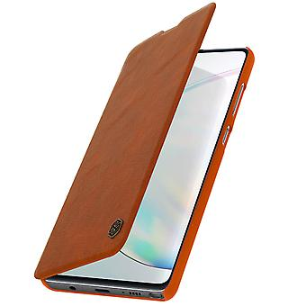 Nillkin Qin-serien flip plånbok fall, kortplats Samsung Galaxy Note 10 Lite Brown