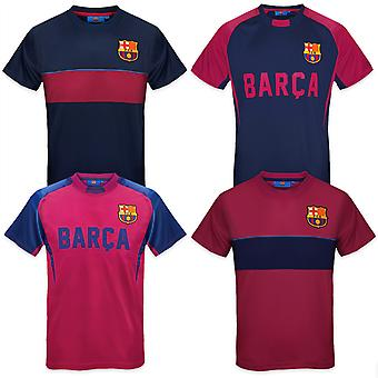 FC Barcelona Official Football Gift Boys Poly Training Kit T-Shirt