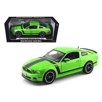 2013 Ford Mustang Boss 302 Green 1/18 Diecast Car Model By Shelby Collectibles
