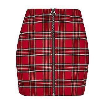 Urban Classics Damen Sweatrock Short Checker