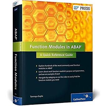 Function Modules in ABAP - a Quick Reference Guide by Tanmaya Gupta -