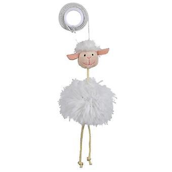 Trixie Sheep on an Elastic Band Plush (Cats , Toys , Plush & Feather Toys)