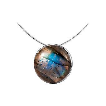 Jacques Lemans - Sterling Silver Necklace with Labradorite - SE-C122B
