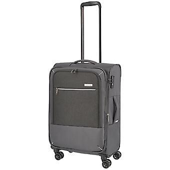 travelite Arona Trolley M, 4 rollen, 66 cm, 56 L, grijs