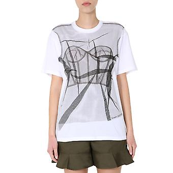 Alexander Mcqueen 610934qzaa10900 Donne's T-shirt in cotone bianco