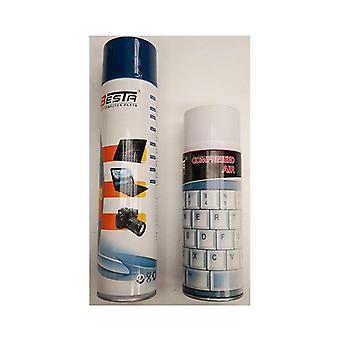 Powertek Air Duster 400Ml For Cleaning Keyboards Pcs Laptops