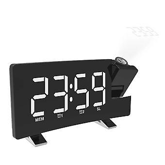 Projector FM Radio LED Display Alarm Clock