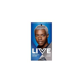 Schwarzkopf Live Permanent Hair Color For Men - Silver Chrome U71