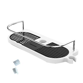 YANGFAN ABS Clasp Metal Guardrail Shower Shelf Rack