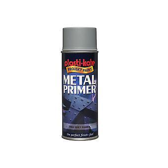 Plasti-kote Metal Primer Spray Grey 400ml PKT10601