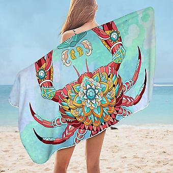 Diamond Crab Microfiber Beach Towel
