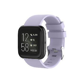 """Replacement Silicone Band Strap Bracelet for Fitbit Versa 2/Versa Lite/Versa[Small Fits Wrist 5.5"""" - 6.9"""",Lavender]"""