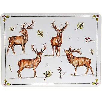 Winter Stags Placemats (Set of 4)