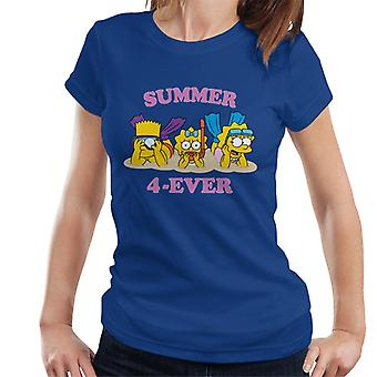 The Simpsons Summer 4 Ever Women's T-Shirt