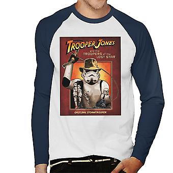Original Stormtrooper Trooper Jones Parody Men's Baseball Long Sleeved T-Shirt