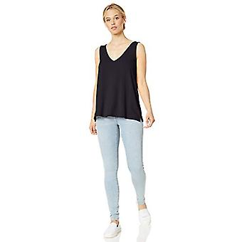 Brand - Daily Ritual Women's Supersoft Terry V-Neck Tank, Navy , Large