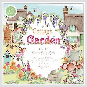 Craft Consortium Cottage Garden 6x6 Tums Paper Pad