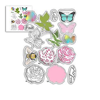 Polkadoodles Honey Rose Clear Stamps