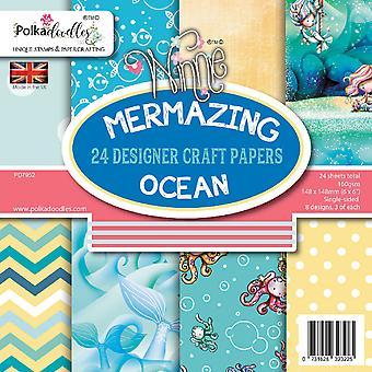Polkadoodles Mermazing Ocean 6x6 Inch Paper Pack