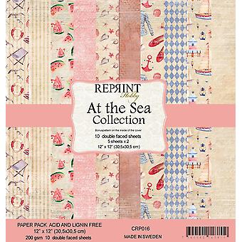 Reprint At the Sea Collection 12x12 Inch Paper Pack