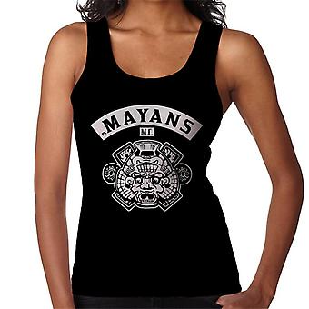 Mayans M.C. Motorcycle Club Face White Logo Emblem Women's Vest