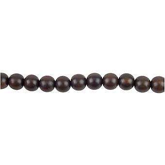 "Tiger Ebony Round Wood Beads 10mm 16""/40cm Strand"