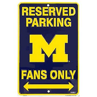 Michigan Wolverines NCAA Fans Only Reserved Parking Sign