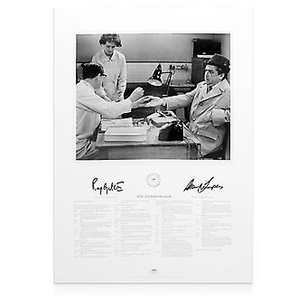 Ray Galton And Alan Simpson Signed Hancock's Half Hour Print: The Blood Donor