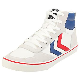 hummel Stadil High Ogc 3.0 Mens Casual Trainers in White Navy Red