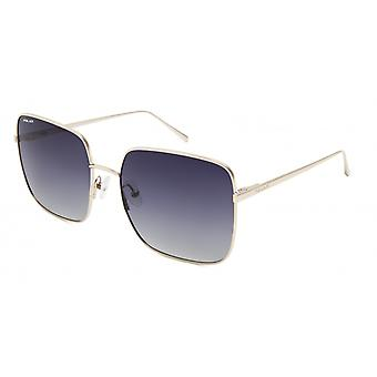 Sunglasses Women's Bloom Polarized Gold with Blue Lens (pblo0102/F)
