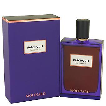 Molinard patchouli eau de parfum spray (unisex) by molinard 537177 75 ml