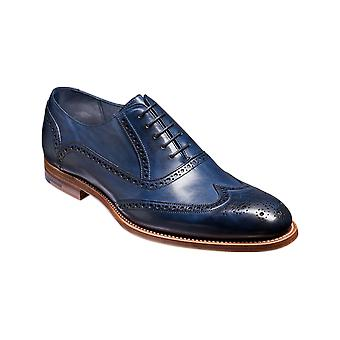 Barker Valiant - Navy Hand Painted  | Mens Handmade Leather Oxford Brogues | Barker Shoes