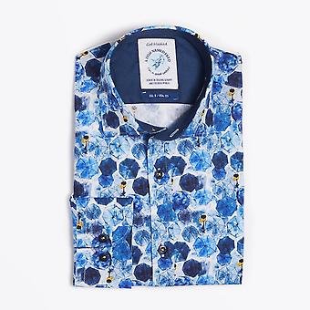 A Fish Named Fred  - Blue Umbrella Print Shirt  - Blue