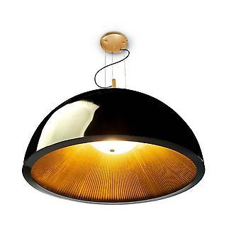 Leds-C4 GROK - 3 luz grande domo techo colgante negro, oro, E27