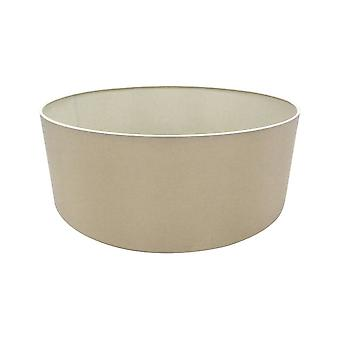 Cylindre rond, 600 x 220mm Dual Faux Soie Fabric Shade, Nude Beige, Moonlight