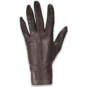 Quivano Dámske kožené rukavice-3 bod Design-klasický štýl s mäkkou tkaninou podšívka # 337-200