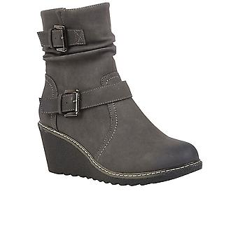 Lotus Phoebe Womens Wedge Ankle Boots