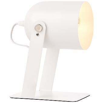 Lâmpada BRILHANTE Yan Lâmpada de Mesa 29cm branco | 1x A60, E27, 30W, adequado para lâmpadas normais (não incluídas) | Escala A++ para