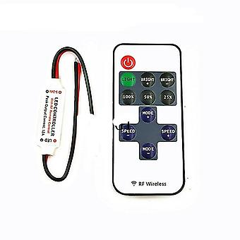 Mini Dc12v LED Controller Dimmer -12a Wireless Rf Fernbedienung zur Steuerung 3528 5050