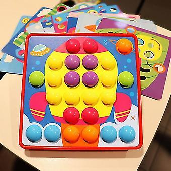 جديد الإبداعية Diy فطر لعبة التوصيل المجلس الجمع رياض الأطفال الأطفال & apos;ق الألعاب التعليمية