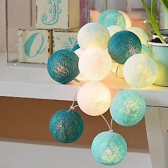 3m Led Cotton Ball Garland Luci Stringa-fata Luci Decorazione Set 1