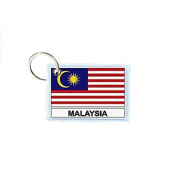 Porte cles cle clefs imprime double face drapeau MY malaisie